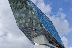 anwa Antwerps havengebouw 2 olieverf